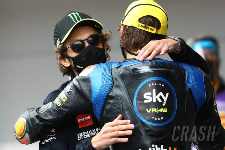 Valentino Rossi, Luca Marini , Moto2 race, Catalunya MotoGP. 27 September 2020