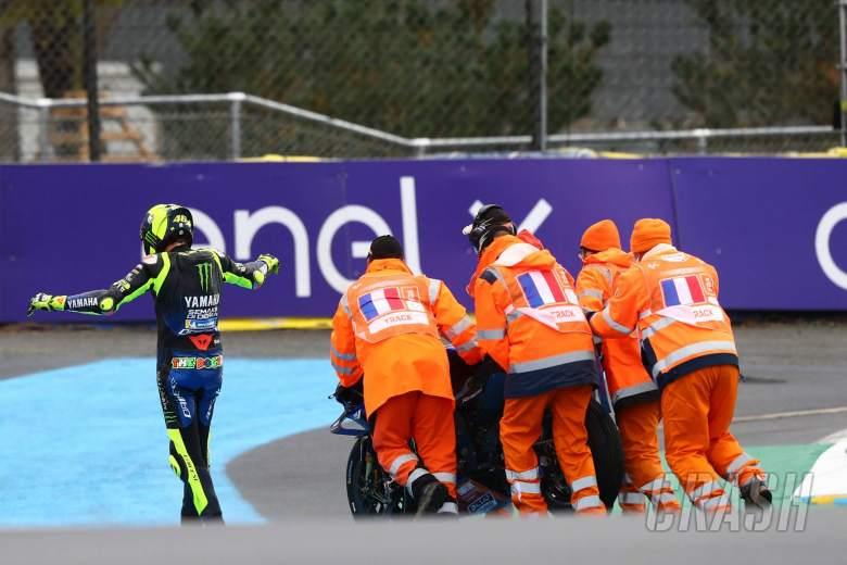 Valentino Rossi after crash , MotoGP race, French MotoGP. 11 October 2020