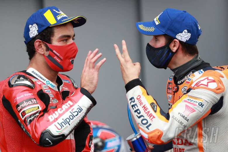 Danilo Petrucci , Alex Marquez MotoGP race, French MotoGP. 11 October 2020