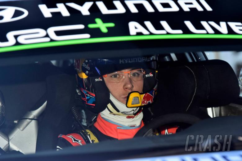 Craig Breen sitting second at Rally Sweden