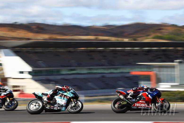 Alvaro Bautista and Loris Baz, Portuguese WorldSBK Race1, 2 October 2021