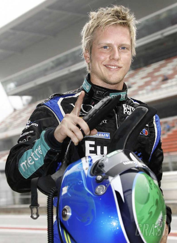 WSR Champ Danielsson enjoys Renault test.