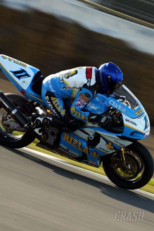 Full strength Suzuki rejuvenated & ready to race.
