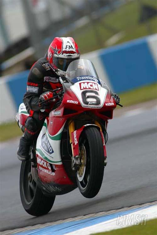 Rutter storms to Donington pole.