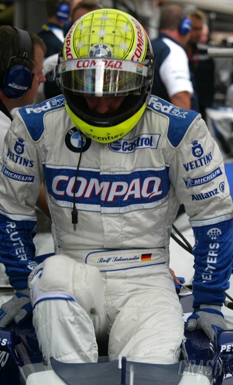 BMW develops head-up display for Ralf's helmet.