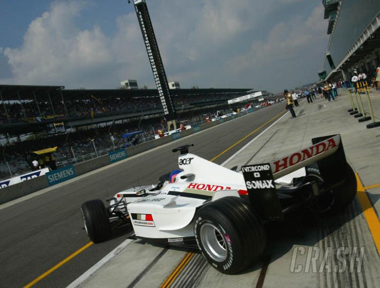 Jacques Villeneuve's lap of Indianapolis.
