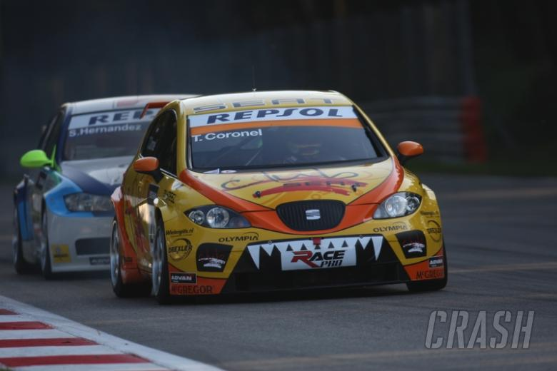 Coronel holds on for maiden win.