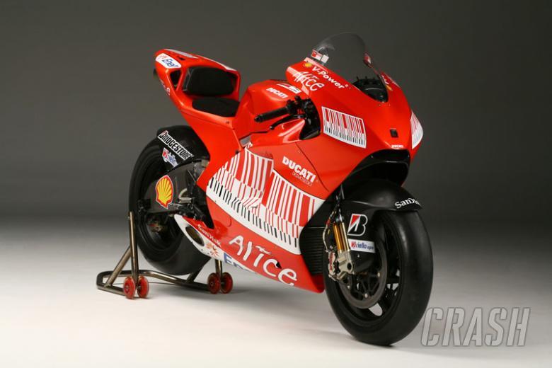 FIRST PICS: Ducati's 2009 MotoGP livery.