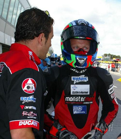 Byrne celebrates BSB title with another rostrum.