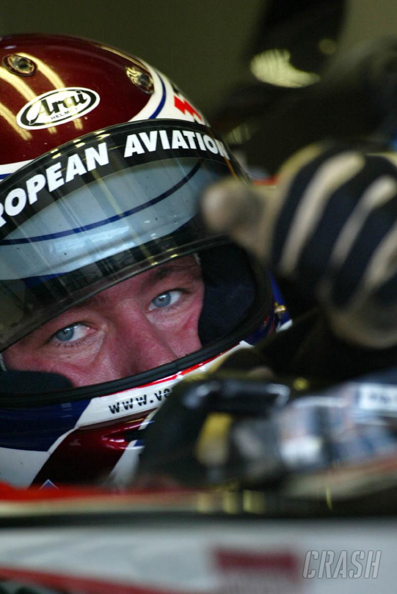 Minardi test ex-Arrows car again.