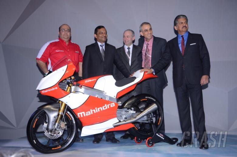 Mahindra unveils 2016 Moto3 racer