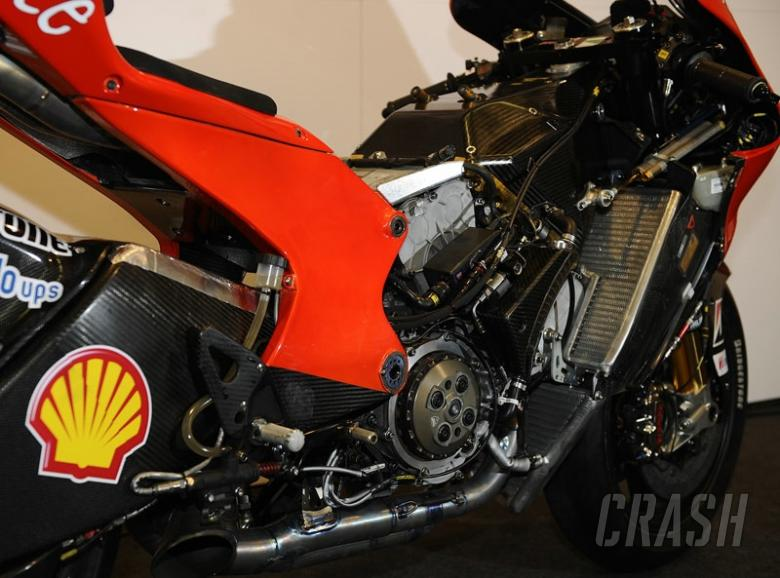 Ducati's carbon fibre MotoGP chassis.