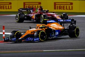 F1 video: McLaren versus Ferrari in battle over P3?