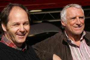 Gerhard Berger, Scuderia Toro Rosso  and Dietrich Mateschitz, Red Bull boss
