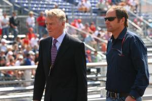 27.05.2006 Monte Carlo, Monaco, . Max Mosley (GBR), FIA President & Gerhard Berger (AUT), Scuderia T