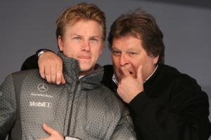 04.11.2006 Stuttgart, Germany,  Kimi Raikkonen (FIN), Rkken, McLaren Mercedes and Norbert Haug