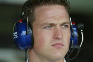 Ralf Schumacher was in the BMW Williams garage for qualifying at Hockenheim