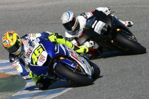 Rossi and Toseland, Jerez MotoGP Test November 2007