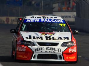 Steven johnson (aust) Jim Beam ford V8 SupercarsRd3 Hamilton 400NZ