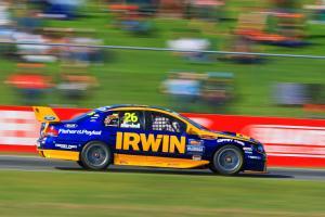 Marcus Marshall, (Aust) Irwin Tools  Ford won all three races to win the roundBigpond 400 rd 4 V8 Su