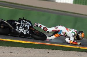 Lorenzo crash, Valencia MotoGP Tests 2008