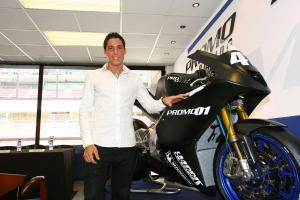 Alexis Espargaro and the Promo Racing Moto2 bike, Catalunya MotoGP 2009