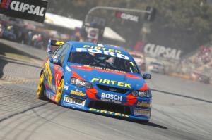 Marcus Ambrose refamilarising with the Adelaide Street Circuit.