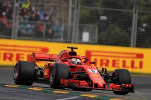 Vettel leads Ferrari one-two in wet-dry FP3