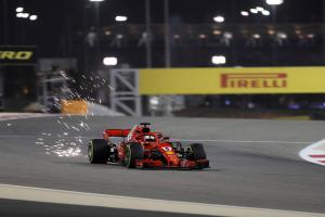 Vettel leads Ferrari front row lockout in Bahrain