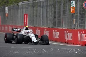 Sirotkin slapped with Spanish GP grid penalty for Perez clash