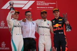 Verstappen survives scrape for first podium of 2018