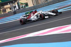 Fiery crash rules Ericsson out of French GP FP2