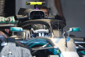 Bottas playing catch up, credits new Mercedes engine