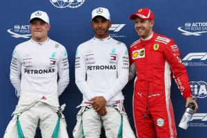 Hamilton questions Ferrari tyre strategy after taking pole