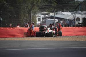 Grosjean explains crash which caused FP2 miss