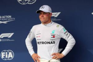 Bottas 'disappointed but glad' with front row in hectic qualifying