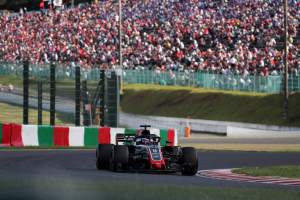 First lap fire left Grosjean without tyre telemetry at Suzuka