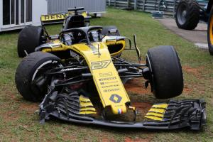 Hulkenberg frustrated by Brazil FP2 crash, but won't face penalty