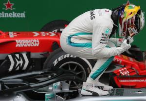 Hamilton relishes 'surprise' victory after Verstappen clash