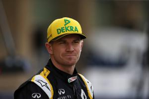 Hulkenberg 'shaken up' but uninjured after first-lap roll