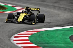Hulkenberg closes out first F1 test fastest