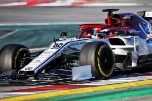 Giovinazzi tops opening morning of second F1 test