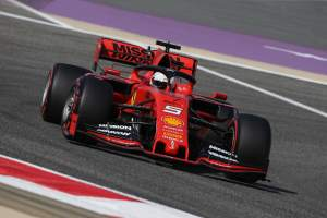 Vettel edges Leclerc as Ferrari shows pace