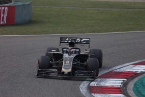Grosjean not worried after front wing failed 'on its own'