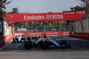 Russell 'relieved' to end nightmare Azerbaijan GP weekend for Williams