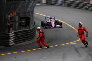 "Perez explains ""very lucky"" miss with Monaco GP marshals"