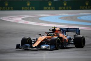 Norris 'surprised' by McLaren's French GP practice pace