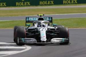 Bottas edges Hamilton in second British GP practice