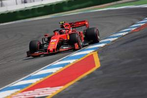 Leclerc tops Germany FP2 as Gasly crashes out