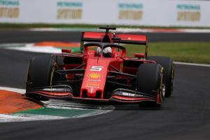 Vettel paces delayed final Italian GP practice for Ferrari